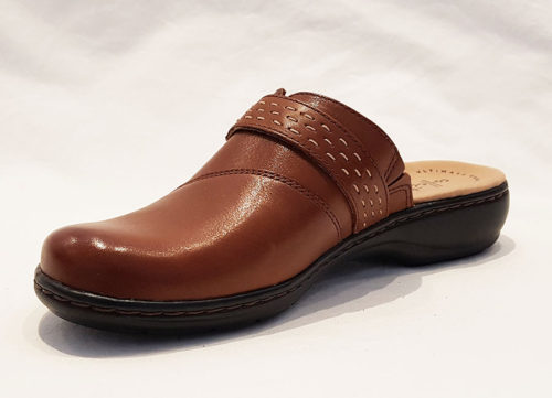 Clarks Leisa Sadie Dark Tan Leather