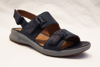 Clarks Un Adorn Sling Navy Leather