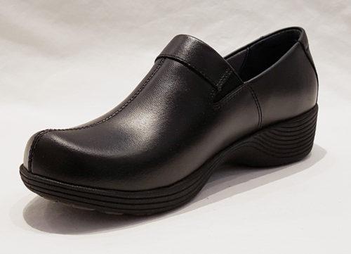 Dansko Coral Blck Leather Women's