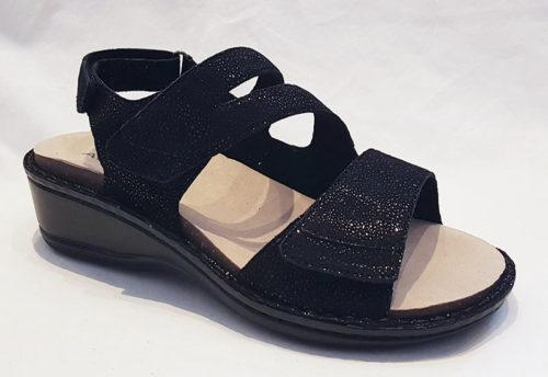 Aravon Cambridge 3 Strap Black Shimmer