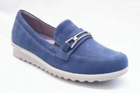 Aravon Josie Bit Loafer Blue