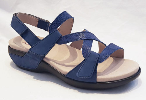 Aravon PC S Strap Sandal Blue Multi