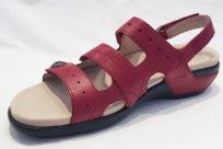 Aravon PC Three Strap Red Leather