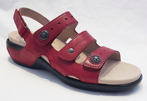 Aravon PC Three Strap Red Leather