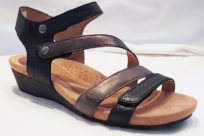 Cobb Hill CH Hollywood 4 Strap Sandal Black Multi