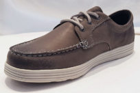 Dunham Colchester Moc Low Grey Leather