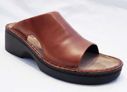 Naot Rome Maple Brown Leather