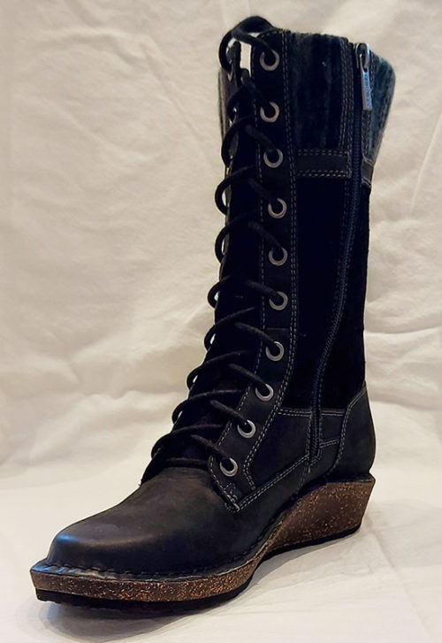 Aetrex Womens Elsa Tall Boot Black