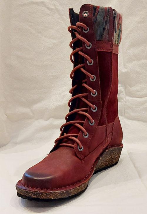 Aetrex Womens Elsa Tall Boot Dark Berry